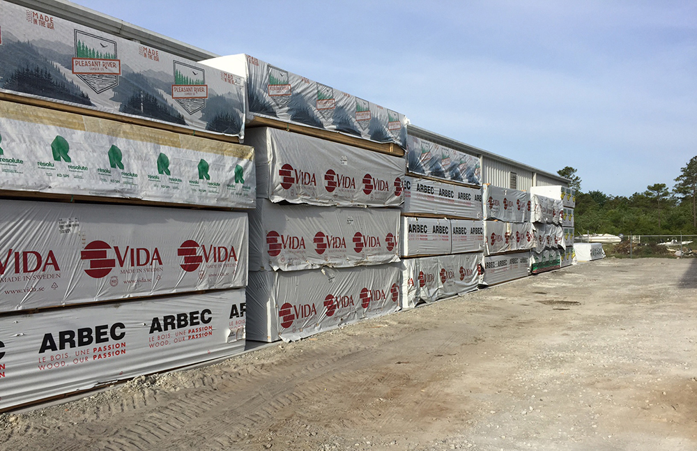 Recently added concrete pads for back-up inventory. Assists in yard maintenance and less opportunity for weathering of product.