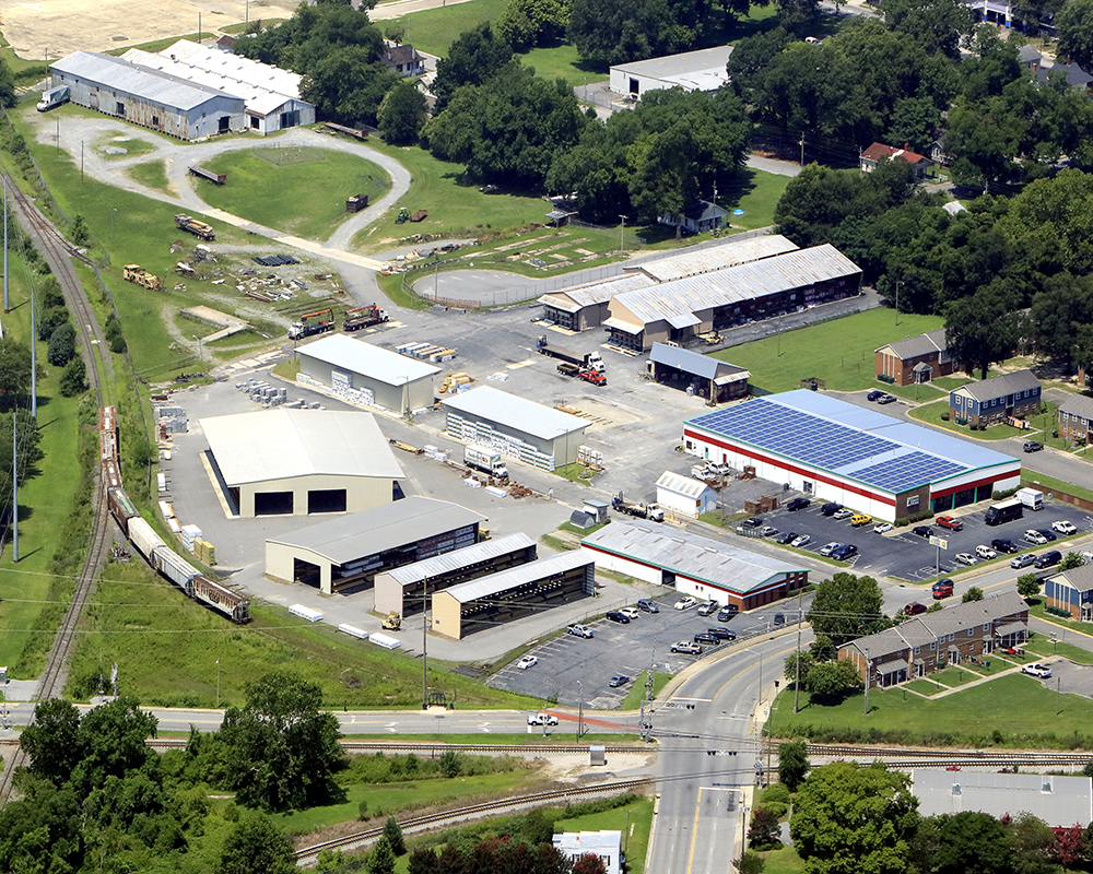 greenville location - aerial view