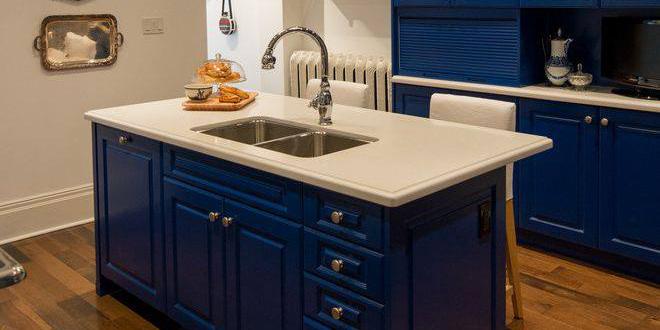 Blue Designed Kitchen
