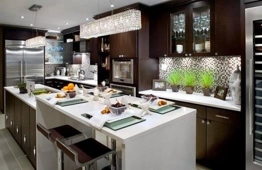 Dark Designed Kitchen