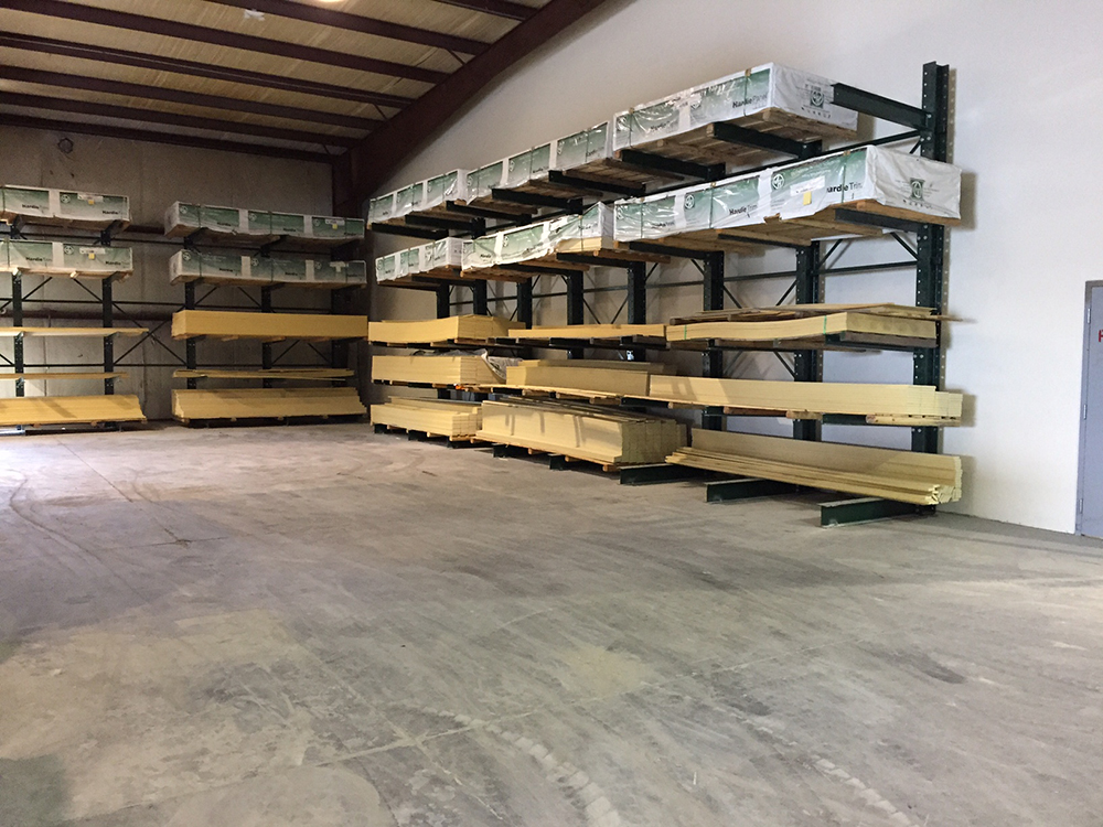 Another angle of the New Racking at the Shallotte location