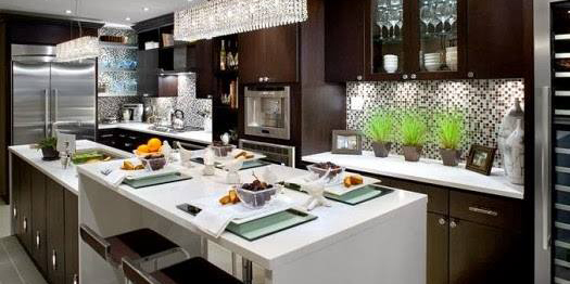Dark Designed Kitchen