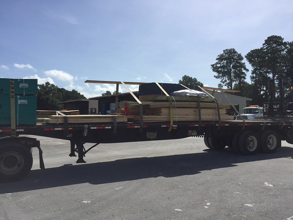 lumber on a truck
