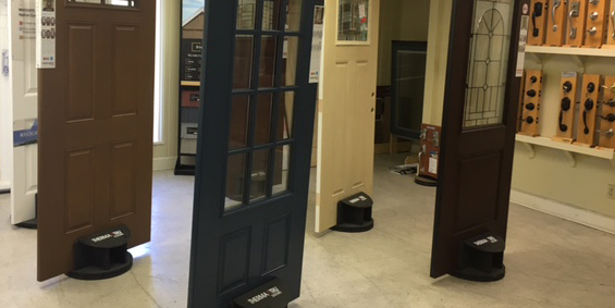 Standing Doors Display