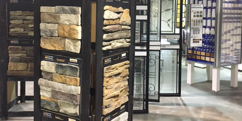 Stone and Glass Displays